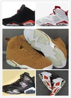 Wholesale increasing muscle size - 2018 wholesale 6 Golden Harvest Wheat Basketball Shoes Men 6s Golden Harvest Sports High Quality Sneakers Shoes Size 41-47