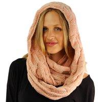 moda de silenciadores al por mayor-pañuelos de CC de la venta caliente 8 chicas de color sólido diferentes mujeres anillo scarve silenciador de tejer crochet moda