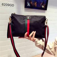 Wholesale nylon bags shoulder straps resale online - Shoulder Bags Women Fashion Handbags Strap Striped Zipper Bag New Soft Nylon Shoulder Messenger Bags High Quality Female Leisure Bag