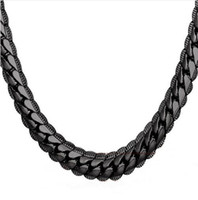 Wholesale vintage easter jewelry - Necklace Choker Long 9MM 6MM Vintage Punk Black Silver Gold Color Miami Chain Hip Hop Chain Gift For Women Men Jewelry N08