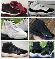 ingrosso gamma 11 di alta qualità-Vera fibra di carbonio 11 11s Bred Concord Gamma Blue Platinum Tinta 72-10 Scarpe da basket Uomo Donna Sneakers alta qualità con scarpe Box
