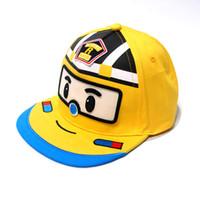 jungen rote hüte großhandel-Jungen Mädchen Baseballmütze Kinder Snapback Kinder Cartoon Hut Gorras Knochen Gelb Blau Rot 4 Farben