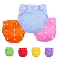 yeni doğmuş bez bezleri toptan satış-Bebek Bebek Su Geçirmez Nano Bez Bezi Kapak Cepler 5 Adet Lot Yıkanabilir Ayarlanabilir Yenidoğan Bez Değiştirme Örgü Bezi Pantolon