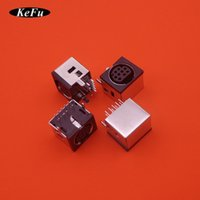mini s video al por mayor-MD carcasa metálica Mujer DIN 9 Pin Mini rectángulo de S-vídeo del adaptador de enchufes mini carga de reparación de reemplazo del conector del puerto
