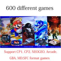 Wholesale Hdmi Download - Xgame snes nes classic HDMI VGA video game consoles Built-in Different 600 Games support SD card download Arcade GBA CP1 2 NEOGEO game