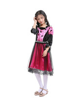 Wholesale children s fancy clothing online - Devil cosplay costume for kids Witch cosplay fancy dress for girl fo Halloween party child clothes