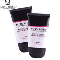 жидкий праймер оптовых-MISS ROSE Face Primer Foundation Liquid/ Lotion Repair Nourish Oil Control Liquid Foundation 25ml Nude Make Up Bases Shrink Pore