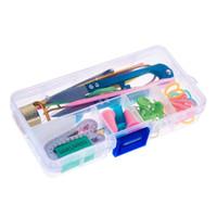 textiles de japon al por mayor-1 juego de herramientas de tejer para el hogar gancho de ganchillo conjunto DIY herramientas de tejer puntadas tejedor agujas para suministros de costura