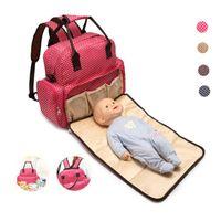 paquetes de pañales al por mayor-Multifuncional Ultra-Large Capacity Waterproof Baby Bag mochila, paquete de maternidad, bolsa de pañales disponible para bebé acostarse
