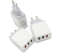 Wholesale universal travel adapters online - EU US Wall Chargers V A Adapter Quick Charger Travel Power Adapter USB Ports For iPhone X Samsung Note