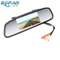"""gövdeye monte baş yukarı ekran toptan satış-Ücretsiz Nakliye 4.3 """"inç TFT Araba LCD Dikiz Dikiz DVD Ayna Monitör araba CCD Kamera Dikiz kameralar için Fabrika Promosyon"""