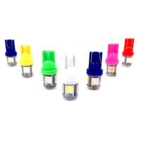 ampoule à xénon led blanche 194 achat en gros de-Auto T10 5SMD 5050 Lumière LED automobile W5W 192 168 194 5050 SMD Ampoule blanche Xenon Ampoule