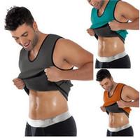 erkekler karın şekillendirici toptan satış-Zayıflama Kemeri Göbek Erkekler Zayıflama Neopren Yelek Vücut Şekillendirici Karın Yağ Yakma Shaperwear Bel Ter Korse Kilo Kaybı S-5XL