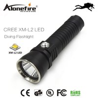 Wholesale photography works - Alonefire DV14 XM-L2 2000lm CREE LED Diving Flashlight Underwater LED Diving photography fill light for 26650 battery