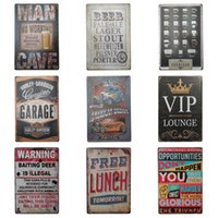 Wholesale Print Poster Design - Antique Multi Design Tin Sign Creative Beer Theme Tins Poster For Art Gallery Corridor Bar Hang Decoration Iron Painting 20*30cm Z