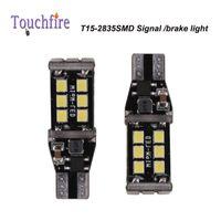 Wholesale t5 led car signal light - 10pcs T15 LED 2835smd 15smd 880LM Bulb Tube Auto Wedge Car lights AC 12v Width Interior Signal Brake Lighting Car