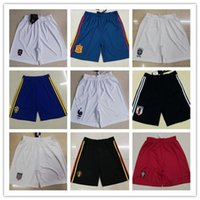 Wholesale spain national team - France Football shorts 2018 World Cup national team spain soccer shorts Argentina ball shorts Russia Germany special football shorts.