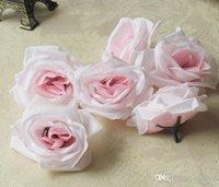 grande soie achat en gros de-Gros nouvelle soie tête de fleur grande rose fleurs fleurs artificielles tête de boule broche décoration de mariage fleur