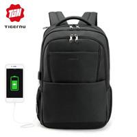 2018 Tigernu brand male mochila 15.6 laptop backpack men usb large travel  backpacks slim waterproof anti theft schoolbag women 1e4160b517fed