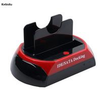 ingrosso disco rigido esterno 3.5-Kebidu Docking Station HDD Dual USB 2.0 2.5 3.5 pollici IDE SATA HDD Box esterno Lettore di schede per unità disco rigido