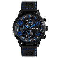 большие мужские спортивные часы оптовых-SKMEI Спорт Big Face Часы Мужчины Водонепроницаемый Календарь Мода Кварцевые Наручные Часы Силиконовый Ремешок Часы Оптовая Relogio Masculino 9153
