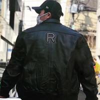 Wholesale women rivet motorcycle jacket - 18SS Studded Arc Box Logo Leatjer Jacket Motorcycle Clothing PU Leather Fashion Men Women Couple Coat Street Outwear High Quality HFLSJK095