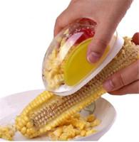 separador de maiz al por mayor-Herramientas de cocina mágicas Forma de automóvil Separador de maíz Facilitar separador de callos Dispositivo pelado Accesorios de cocina Gadgets para el hogar removedor de pelador