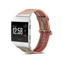 Wholesale leather replacement straps - Watch Band For Fitbit Ionic Smart Watch Strap Colorful Genuine Leather Watches Bands Replacement Free DHL