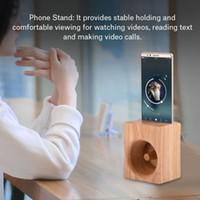 aufladung telefonständer großhandel-Boxwood Phone Stand Lautsprecher Sound Verstärker No Power Wooden Holder Handy-Ladestation