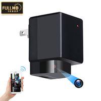 wifi ac оптовых-Wi-Fi USB зарядное устройство камеры Y9 мини P2P IP-камера нет отверстие HD 1080P адаптер переменного тока подключите камеры видеорегистратор главная видеокамера безопасности