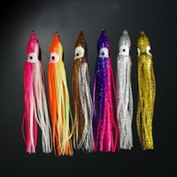 Wholesale tuna trolling soft lures for sale - Group buy 30pcs cm cm cm Trolling Squid Skirts Soft Octopus Lures Hoochie Fishing Baits Tuna Tail Tackle Craft Accessories