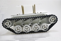 Wholesale metal tracking wheels for sale - Metal Absorper Smart Robot Tank Chassis With Dual DC Motor Plastic Tracks Aluminum Alloy Wheels For Arduino Project TS100