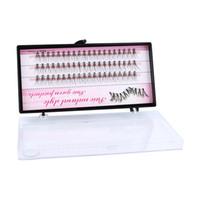 ingrosso singoli set di ciglia false-Hot 8/10 / 12mm 60 Bundle / Set False EyeLashes Extension Kit Individuale Cluster Natural Long Grafted Fake Eyelashes Beauty Makeup Tool