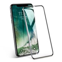 protectores de pantalla de vidrio para celulares al por mayor-Para iphone X XS Max XR 9H scratch glass templado 5.8 pulgadas cubierta completa protector de pantalla de teléfono celular 3d para iphone 7 8 6 6S plus