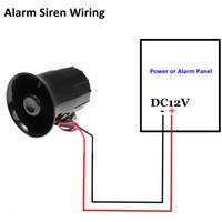 wholesale fire alarm speaker online - security wire outdoor alarm siren  loud horn home alarm system