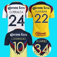 Wholesale Jersey Club America - S-2XL 2017 2018 third club america jersey away 17 18 america soccer jerseys DOMINGUEZ Matheus Uribe LAINEZ PERALTA quintero football shirt