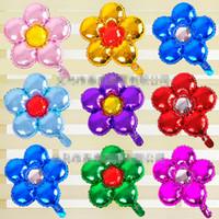 globos en forma de bola al por mayor-MOQ: 20PCS globos de papel de aluminio en forma de flor bolas florales de 18 pulgadas para decoraciones de eventos de boda de la fiesta de cumpleaños