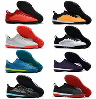Wholesale Mens Low Ankle Shoes - Mercurial Finale II TF Soccer Shoes Turf MercurialX Superfly Neymar Football Boots New Mens Soccer Cleats Low Ankle Cut Botas de Futbol 2017