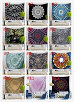 Wholesale hanging tapestries resale online - 33 Design Mandala Tapestry Wall Hanging Mural Yoga Mats Beach Towel Picnic Blanket Sofa Cover Party Backdrop Wedding Home Decoration