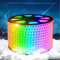 elektrik şeritleri toptan satış-IP65 10m-100m Yüksek Gerilim SMD 5050 RGB soğuk beyaz 110 V / 220 V Led Şeritler Işıklar Su Geçirmez + IR Uzaktan Kumanda + Güç Kaynağı