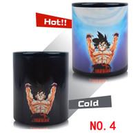 ingrosso tazze cambianti di colore caldo-Dragon Ball Z Mug Taza SON Goku Calore reattivo cambia colore Mug Super Saiyan Milk Coffee Cup