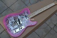 Wholesale Guitar Body Decals - OEM Factory Quality TL-High Quality New Arrival F atocaster 6 string Silver decals Electric Guitar