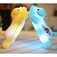 Wholesale led dog toys - 35cm Plush dog with colorful LED light glowing dogs with fashion children toys for girl kids birthday gift YYT221