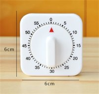 Wholesale tool for engraving for sale - White Kitchen Square Timers Minute Mechanical Reminder Counting Count Down Alarm For Kitchen Timers Tools tt Z