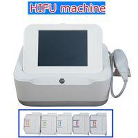Wholesale facial frequency machine online - hifu high frequency facial machine HIFU wrinkle removal face lifting hifu body equipment or cartridges for salon