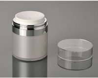 Wholesale wholesale airless jars - 50g airless acrylic cream jar, airless emulsion jar, airless emulsion  cream bottle cosmetic jars free shipping