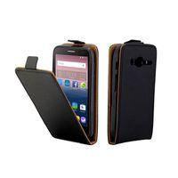 alcatel tek dokunmatik flip durumda toptan satış-Alcatel One Touch Pixi 4 Için iş Deri Kılıf 4.0