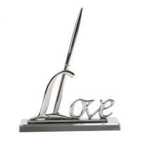 cadeaux pour l'amour achat en gros de-Invités de luxe en cuivre signature stylo + support de l'amour support cadeaux de mariage décoration