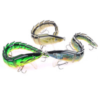 Wholesale 3 color cm g Snake Fish Plastic Hard Baits Lures Fishing Hooks Fishhooks Hook Artificial Bait Pesca Fishing Tackle Accessories