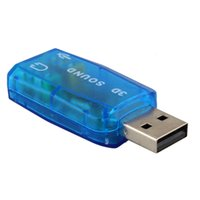 interface de microfone venda por atacado-10 pcs USB Placa de Som USB 5.1 de Áudio USB Externo Placa de Som Adaptador de Áudio Mic Speaker Interface De Áudio Para PC
